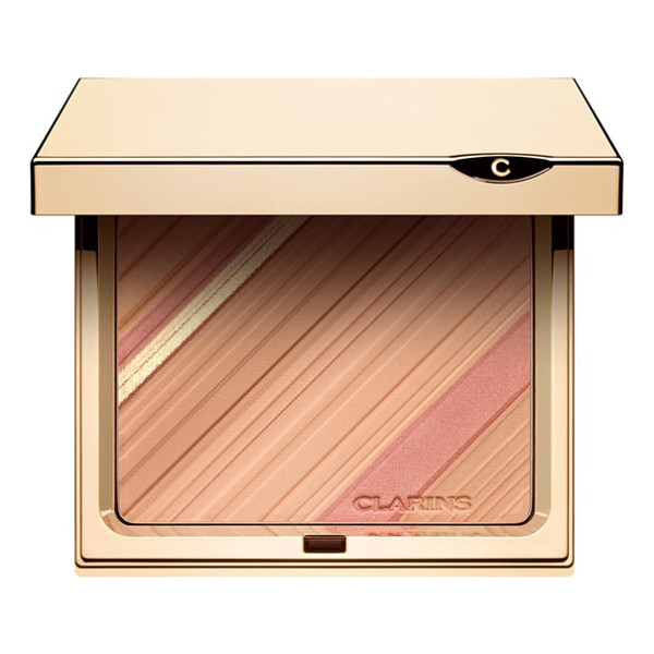 CLARINS Graphic expression face & blush powder palette - Blush hour! Clarins' graphic palette of tinted powders was...