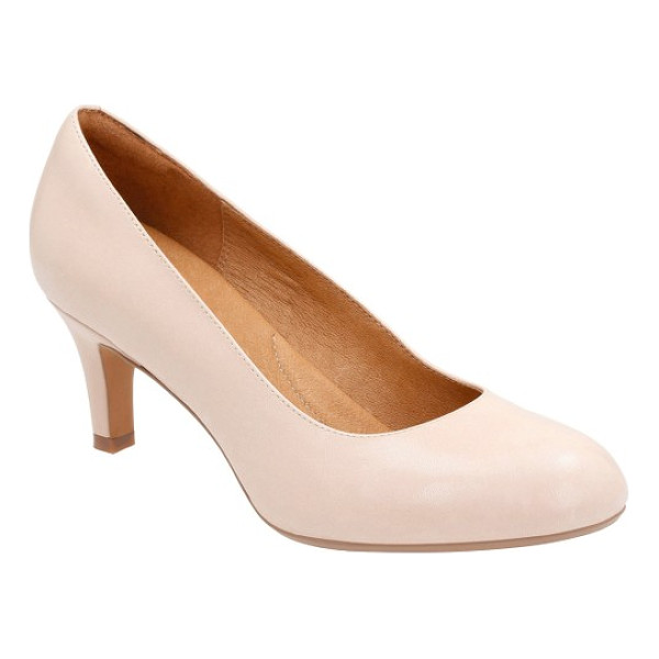 CLARKS clarks 'heavenly heart' pump - A shock-absorbent footbed brings comfort and stability to a