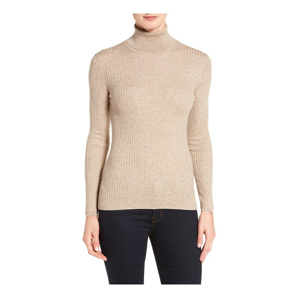 CLASSIQUES ENTIER classiques entier ribbed turtleneck sweater - Indispensable fall topping, a slim turtleneck is shaped...