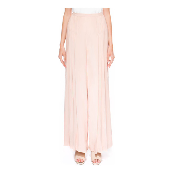 C/MEO COLLECTIVE frayne pleated high waist wide leg pants - Small pleats add ethereal volume to the high-waisted,...