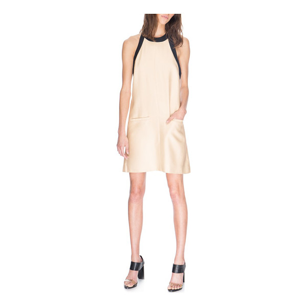 C/MEO COLLECTIVE do it again halter minidress - A clean center seam runs down the front of a retro-inspired...