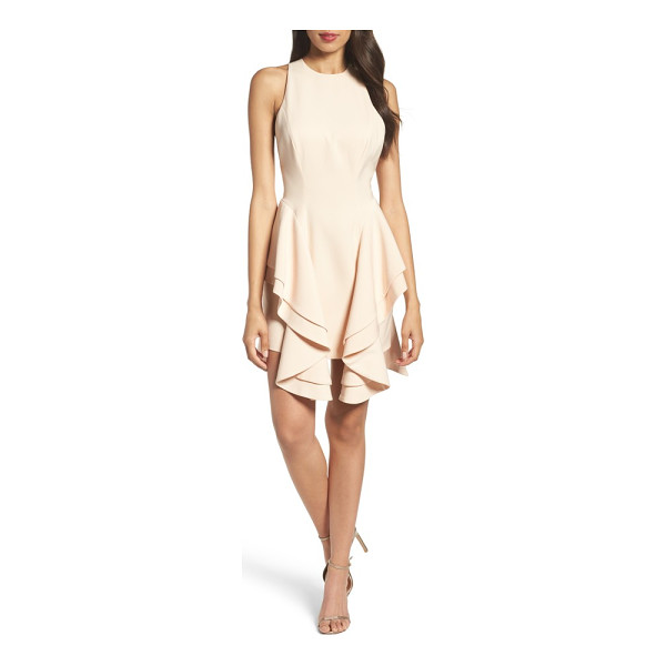 C/MEO COLLECTIVE enlighten minidress - Tiered ruffles cascade from the Basque waist of this...