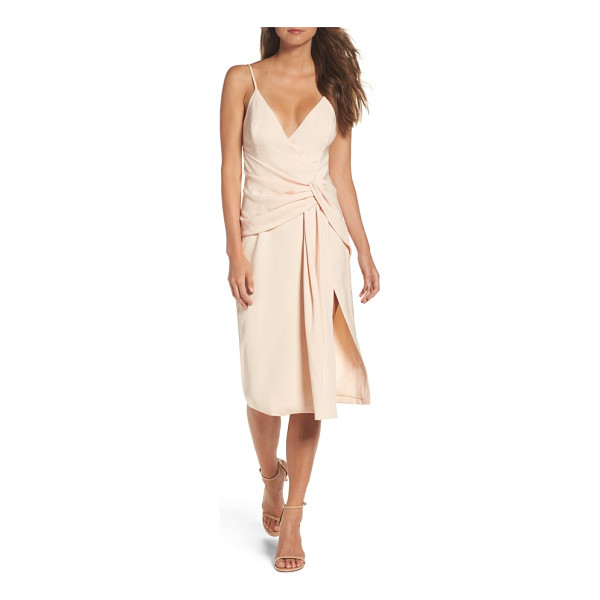C/MEO COLLECTIVE enlighten sheath dress - A crepe dress updated with a plunging neckline, knotted...