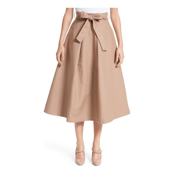 CO. belted tton skirt - Drawing from '40s silhouettes, this A-line cotton skirt...