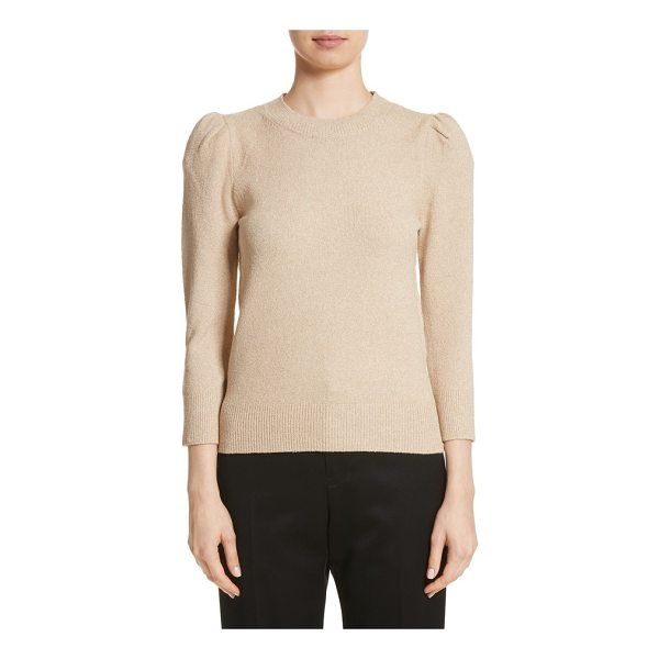 CO. metallic knit puff sleeve sweater - Flecked with metallic threads for an understated sheen,...