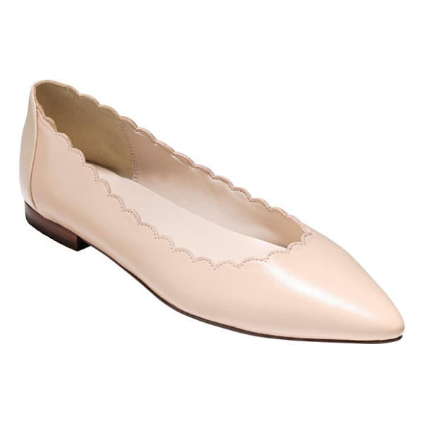 COLE HAAN alice pointy toe flat - A scalloped topline lends modern appeal to the streamlined...