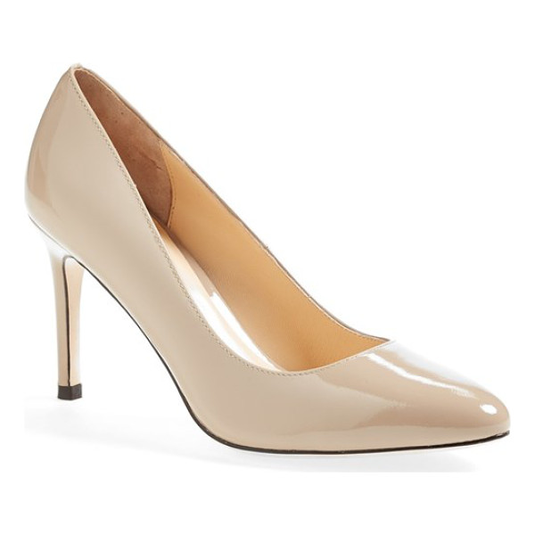 COLE HAAN bethany leather pump - Sleek and always chic, this refined almond-toe pump is...