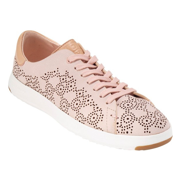 COLE HAAN grandpro perforated sneaker - Tiny perforations in a rolling paisley pattern soften a