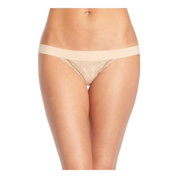 COMMANDO double take lace g-string thong - Italian-made microfiber and elegant floral lace comprise a...
