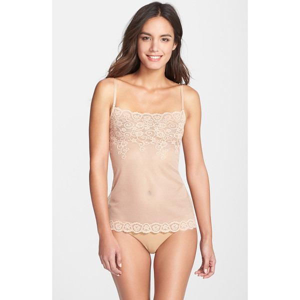 COMMANDO tulip lace & mesh camisole - This sheer, stretchy camisole, framed with exquisite lace...