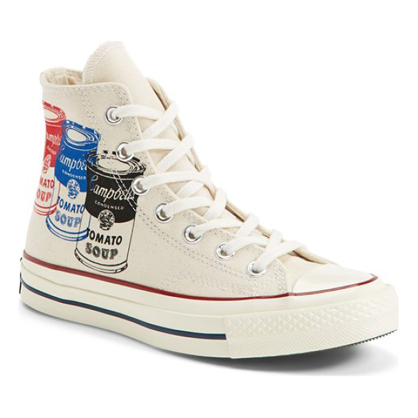 CONVERSE chuck taylor all star 70 andy warhol collection high top sneaker - Merging two American classics, this sporty high-top sneaker...