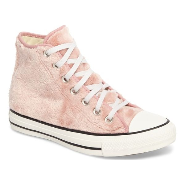 CONVERSE chuck taylor all star faux fur high top sneakers - Classic Chucks go trend-forward with a fuzzy faux fur upper...