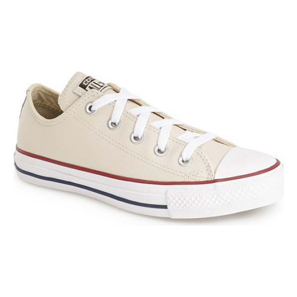CONVERSE chuck taylor all star leather low top sneaker - An iconic, richly colored low-top sneaker keeps the classic...