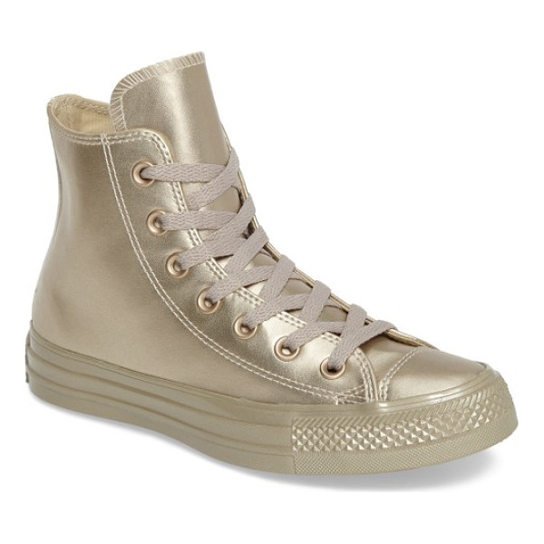 CONVERSE chuck taylor all star liquid hi sneaker - Metallic faux leather adds a glamorous touch to a classic...
