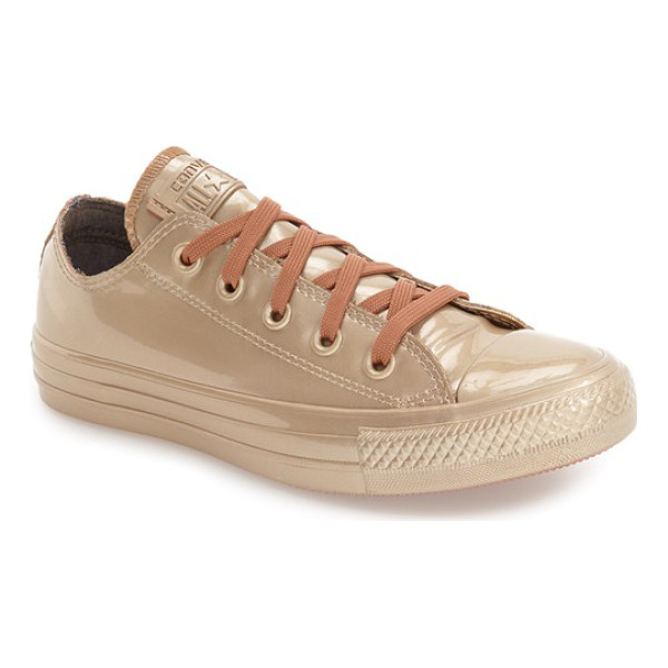 CONVERSE chuck taylor all star metallic water repellent low top sneaker - Reinforced rubber construction and gusseting at the tongue...
