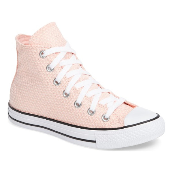 CONVERSE chuck taylor all star woven high top sneaker - An iconic high-top sneaker steps out with textured fabric...