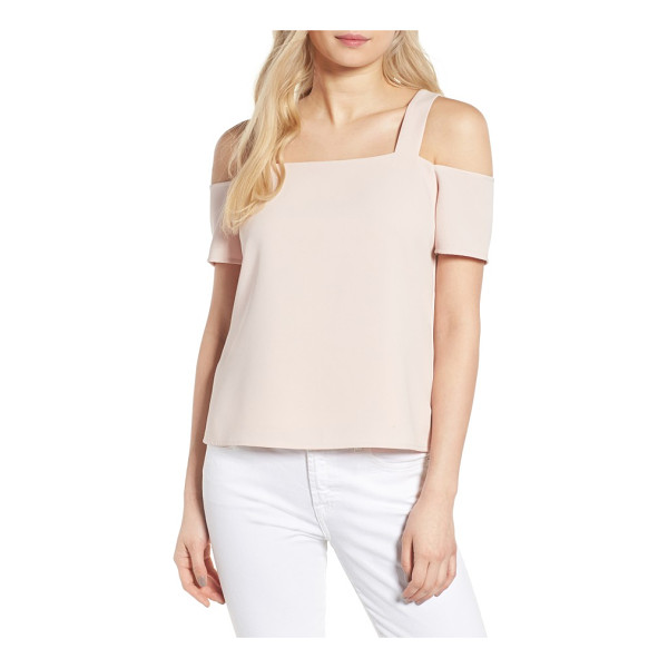 COOPER & ELLA ava cold shoulder top - Cutouts at the shoulders and back put a modern twist on a...