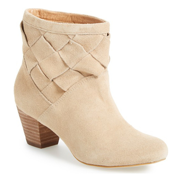 CORSO COMO benster bootie - A woven shaft and chunky stacked heel add to the...