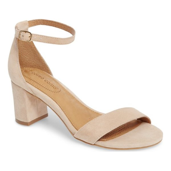 CORSO COMO caress sandal - An angled toe strap and a curvy ankle strap define a...