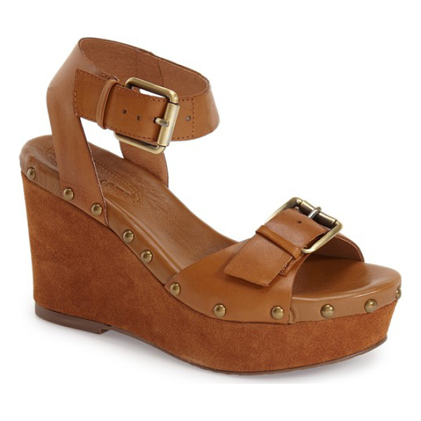 CORSO COMO deli sandal - Brushed goldtone hardware and a suede-covered wedge define...