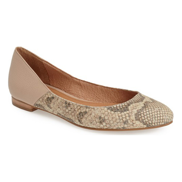 CORSO COMO morrison pointy toe flat - Soft, supple leather defines a pointy-toe flat designed...