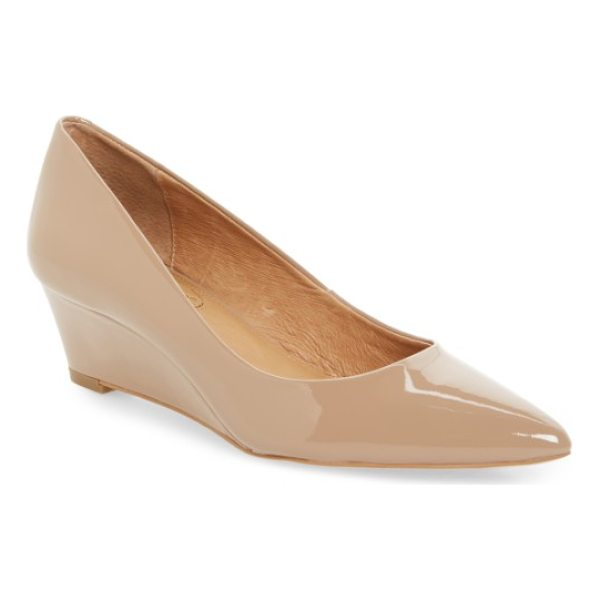 CORSO COMO nelly pointy toe wedge pump - A slim wedge seamlessly lifts a poised pointy-toe pump...