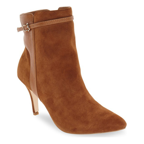 CORSO COMO 'radiant' pointy toe bootie - A slim buckle strap traces the topline of a go-to casual...