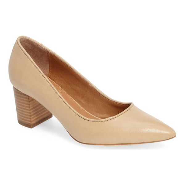 CORSO COMO 'regina' pump - A pointy toe and stacked block heel elevate a versatile...