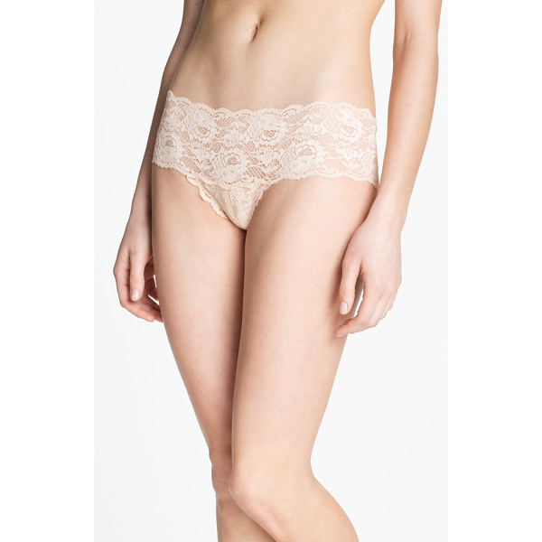 COSABELLA 'never say never' hipster briefs - Soft, scalloped lace styles low-rise briefs.