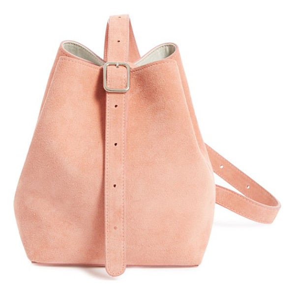 CREATURES OF COMFORT small suede apple bag - Soft, rosy suede refines a stylish shoulder bag crafted in...