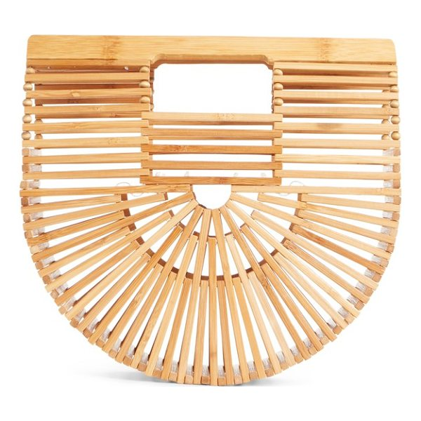 CULT GAIA mini ark handbag - In a cage of lightweight bamboo, this striking clutch is...