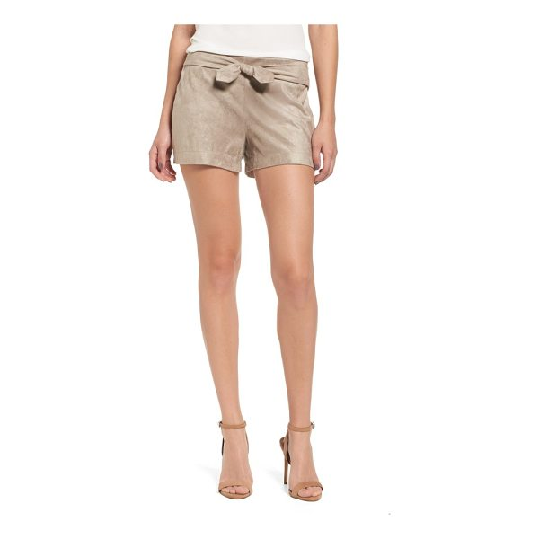 CUPCAKES AND CASHMERE gracyn faux suede shorts - Tailored shorts made for strutting, whether to the stadium...