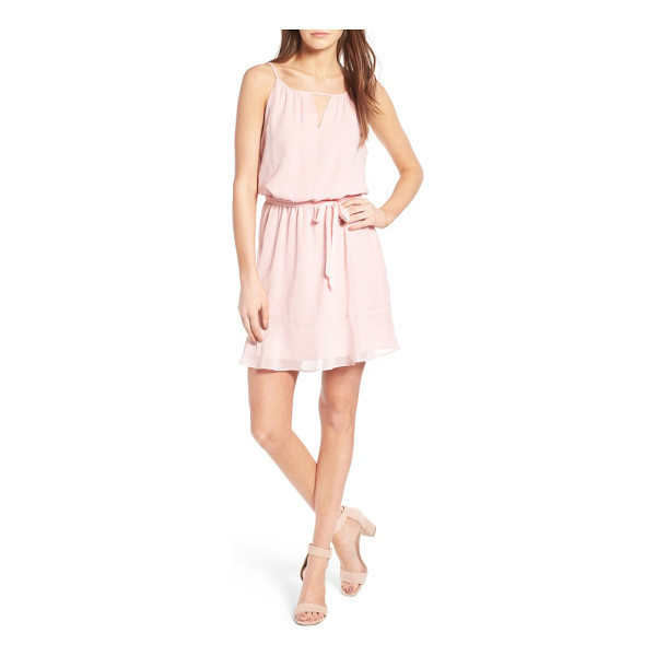 CUPCAKES AND CASHMERE kayden dress - Gracefully cinched at the waist, this airy blouson dress is...