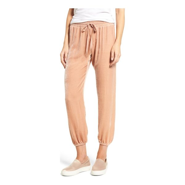 CURRENT/ELLIOTT the eden jogger pants - Soft, drapey fabric infused with silk upgrades jogger-style...