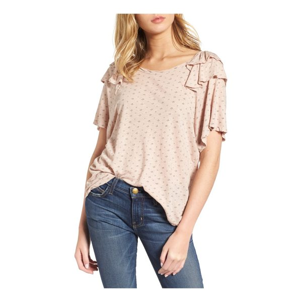 CURRENT/ELLIOTT the roadie ruffle tee - Ruffled at the sleeves, this supersoft tee has an easy,...
