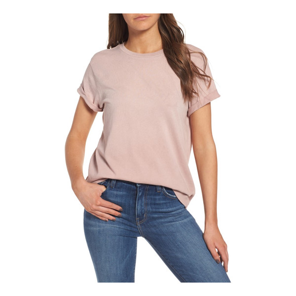 CURRENT/ELLIOTT the rolled sleeve glitter tee - A dash of glitter highlights the casually cool vibe of this...