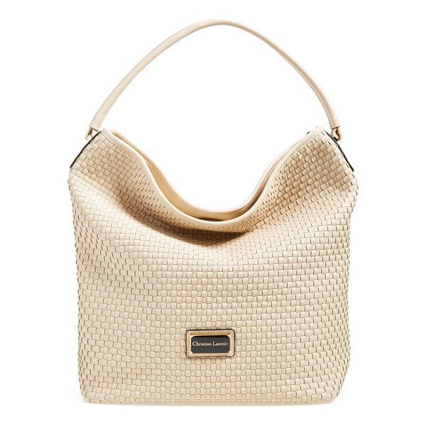 CXL BY CHRISTIAN LACROIX Avignon woven faux leather hobo - A curvaceous, faux-leather hobo features a basket-weave...