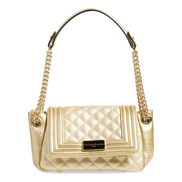CXL BY CHRISTIAN LACROIX Orleans quilted hobo - A duo of quilting techniques lends moto-inspired style to a...