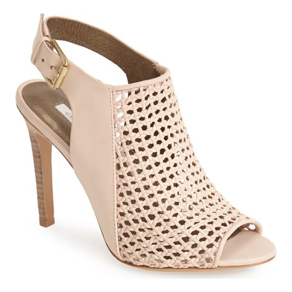 CYNTHIA VINCENT francine basket woven leather sandal - A flirty peep toe and open back perfect the summery...