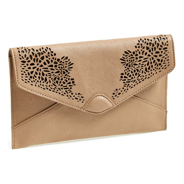 DANIELLE NICOLE Danielle adeline laser cutout clutch - Lacy laser cutouts bring a dash of romance to a striking...