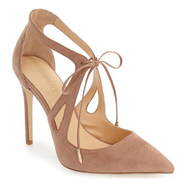 DAYA by zen 'aaron' pointy toe pump - Gracefully curved straps and a dainty tie closure make this