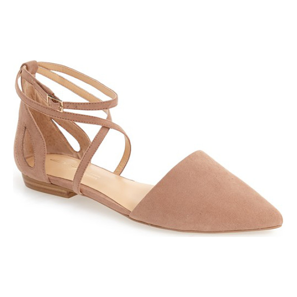 DAYA by zen 'adrian' pointy toe flat - Slim crossover straps and side cutouts underscore the...