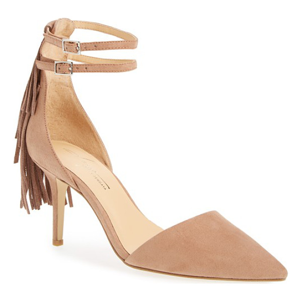 DAYA by zen ansley fringe pointy toe pump - A pointy toe and a classic d'Orsay profile define a pretty...