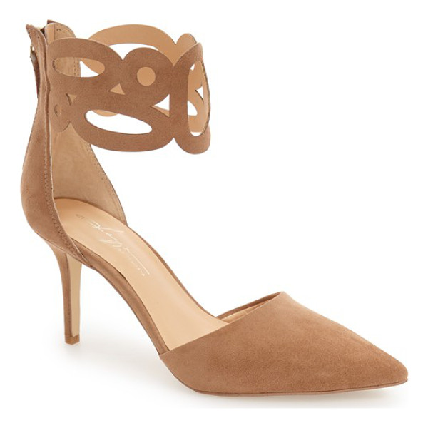 DAYA by zen 'kanona' d'orsay cuffed pump - A cutout cuff wraps playfully around the ankle of this...