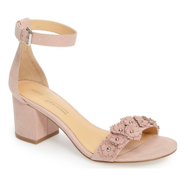 DAYA by zen marietta flowered sandal - Pink flowers with gleaming stud centers bloom cheerfully...