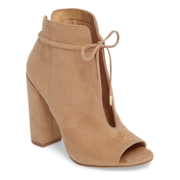 DAYA by zen netty open toe bootie - Skin-baring slits at the front and back add to the sultry...
