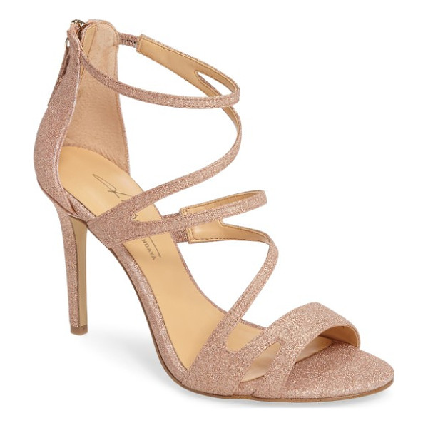 DAYA by zen sikes sandal - Glitter catches the light on this strappy stiletto created