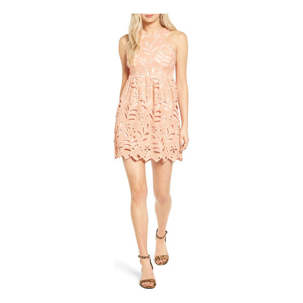 DEE ELLY floral eyelet dress - Oversized eyelets fashioned into sweet flowers and leafy...