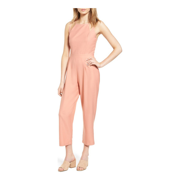 DEE ELLY strappy jumpsuit - A geometric neckline adds a modern touch to this flattering...
