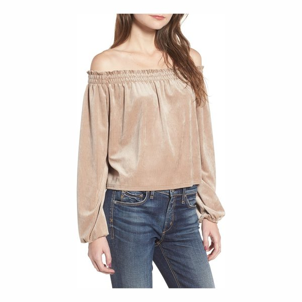 DELACY off the shoulder velvet top - Perfect for soaking up the sun by day and flirting over...